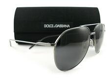 d23a7fe3a09 Dolce   Gabbana DG2166 Sunglasses 04 81 Gunmetal Gray Polarized