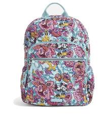 NWT Vera Bradley Campus Backpack Mickey's Colorful Garden Bookbag BACK TO SCHOOL