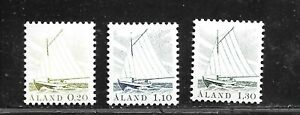 HICK GIRL- MINT ALAND ISLAND STAMPS   1984-90 GAFF-RIGGED SLOOP      E1516