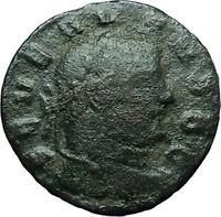 SEVERUS II 305AD Rare Quarter Follis Authentic Ancient Roman Coin GENIUS i66340