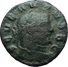 SEVERUS II 305AD Rare Quarter Follis Authentic Ancient Roman Coin GENIUS i66340