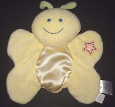 Bright Future Yellow Butterfly Plush Rattle Orange Star Flat Baby Security Lovey