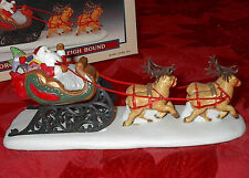 1995 Lemax Dickensvale Collectibles Village Porcelain Santa Sleigh Bound Claus