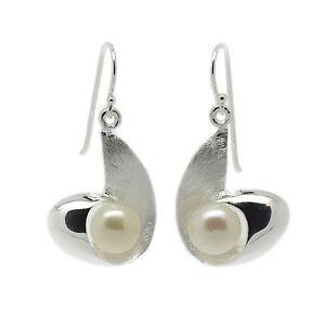 925 Sterling Silver - Freshwater 9mm Pearl Drop Earrings hallmarked (SE0347)