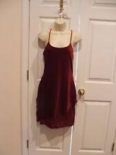New in pkg newport news burgundy velvet formal party holiday dress small 4-6