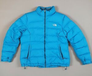THE NORTH FACE NUPTSE 700 GOOSE DOWN PUFFER JACKET, BLUE - WOMEN'S XL