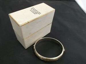 Hallmarked Sterling Silver Wide Silver Engraved Bangle 18g