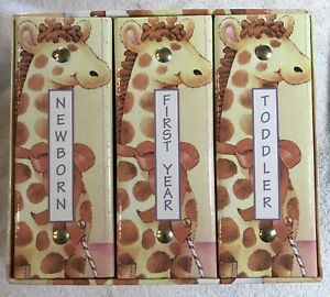 """BABY PHOTO ALBUMS, 3 Phase, """"A Sweet New Baby"""".  NEW, without original packaging"""