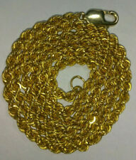 """Solid 18k gold 4mm hollow rope chain 16.01 grams - 24.75"""" long"""