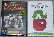 Disney DVD Lot - The Best of the Mickey Mouse Club The Very Hungry Caterpillar
