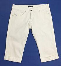 Armani jeans donna usato shorts pantalone corto bermuda bianco W29 tg 43 T4078