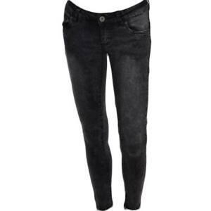 Jeggins donna skinny jeans elastizzato vita bassa slow waist lavaggio scuro deni