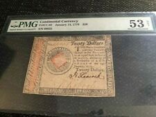 $20 Continental Currency Fr#CC-92, January 14, 1779, PMG