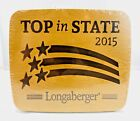 NEW - Longaberger WoodCrafts Top in State 2015 Cutting Board #5206939