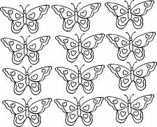 12 Butterflies with hearts vinyl wall decal