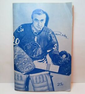 Chicago Blackhawks program December 1967 Canadiens vintage 1960s NHL hockey