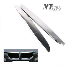 Qty2 R+L Hood Molding Chrome Trims Above Kidney Grille for BMW E90 E91 325i 330i