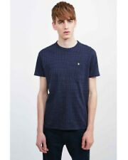 Urban Outfitters Houndstooth All-Over Print T-Shirt Navy Mens Medium box75 19 F