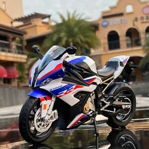 1:12 BMW S1000RR Motorcycle Alloy Model Racing Bike Simulation Sound & light Toy