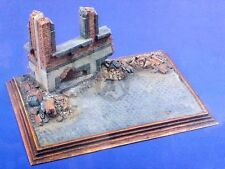 Verlinden 1/35 Street Corner Section w/Destroyed Building Diorama Base WWII 426