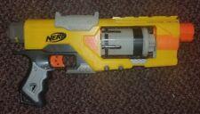 Nerf N-Strike Spectre Rev-5 Revolver Dart Gun Blaster Yellow 2009 Hasbro Used