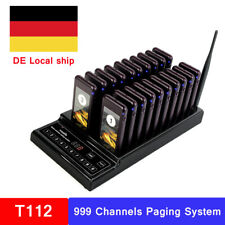 T112 Drahtloses Ausrüstung Gästeruf- Kundenrufsystem Paging-System+20Call Pagers