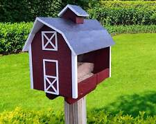 New listing Bird Feeder - Barn Style - Amish Handmade - Wooden - Large Size - Easy to Fill -