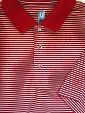 PGA Tour Licensed Apparel Mens Polo Golf Shirt Red Stripe Short Sleeve XL