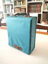 Valigetta porta musicassette vintage anni 70 capacita 20 cassette MC retro case