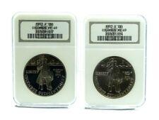 NGC PF69 MS69 1992 P D Columbus Quincentennial Commemorative Silver Dollar Coin