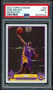 2003 Topps Chrome Refractor Kobe Bryant #36 PSA 9 MINT