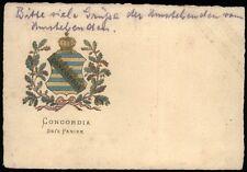 Concordia era's Panier-Studentika-Bahn post Lipsia-IENNERSDORF-Dresda 1919