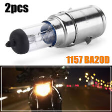 2x 1157 BA20D Light 35/35W Hi/Low Halogen Blubs Motorcycle Headlight Lamp DC12V