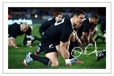 DAN CARTER NEW ZEALAND ALL BLACKS RUGBY SIGNED AUTOGRAPH PHOTO PRINT