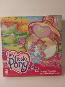 MY LITTLE PONY Game Race Through Ponyville 2003 Milton Bradley Ages 3 Up