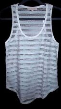 MintyGoGo Zuilly Brand Mesh Tank - XSmall- White- New Without Tags!