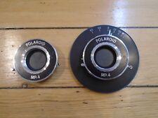 2 VINTAGE SHUTTER / LENS POLAROID MP-4