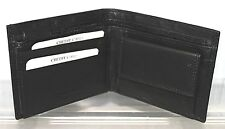 Black Stiched Edged Leather Wallet with Coin & Photo Holder Section by Golunski