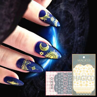 Ultrathin 3D Nail Stickers Star Moon Gold White Adhesive Decal Nail Decoration