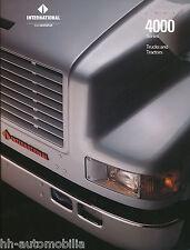 Prospekt Navistar International 4000 Truck Tractor 1992 USA brochure Lkw Amerika