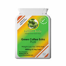 GREEN COFFEE EXTRACT PURE 5000 mg per Capsule DIET WEIGHT LOSS CHLOROGENIC ACID