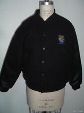 THIRD WATCH BLACK LEATHER WOOL TELEVISION CREW BOMBER JACKET XS STARWEARS rare!