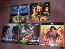 Lot of 5 607ms LaserDiscs GOLDENEYE BATMAN FOREVER STALLONE Mohicans Acción etc