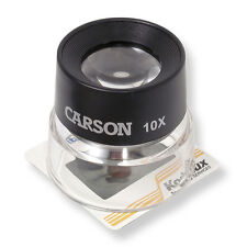 Carson 10X Loupe Magnifier GREAT FOR LOOKING AT MAPS, PICTURES & SHIPS NEXT DAY!