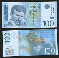 SERBIA-UNCIRCULETED PAPER MONEY-NIKOLA TESLA-2012.