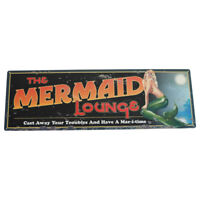Large MERMAID LOUNGE Metal Bar/Pub Wall Sign Nautical Mermaids Decor Vintage Rep