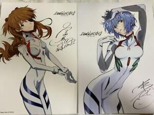 Shin Evangelion 3.0+1.0 Autograph Reversible Mini Poster Asuka Rei Movie Japan