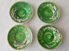 Fairyland China Occupied Japan Green Dragon 4 Demitasse Saucers