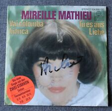 Mireille Mathieu, vai Colomba bianca / tu es aus liebe, SP - 45 tours
