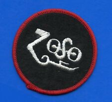 Led Zeppelin Zoso (red) symbol vintage 1980s EMBROIDERED PATCH